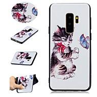Недорогие Чехлы и кейсы для Galaxy S9-Кейс для Назначение SSamsung Galaxy S9 Plus / S9 С узором Кейс на заднюю панель Кот Мягкий ТПУ для S9 / S9 Plus / S8 Plus