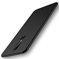 お買い得  携帯電話ケース-ケース 用途 OnePlus OnePlus 6 / OnePlus 5T つや消し バックカバー ソリッド ハード PC のために OnePlus 6 / One Plus 5 / OnePlus 5T