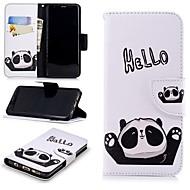 Недорогие Чехлы и кейсы для Galaxy S9-Кейс для Назначение SSamsung Galaxy S9 Кошелек / Бумажник для карт / со стендом Чехол Панда Твердый Кожа PU для S9