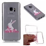 Недорогие Чехлы и кейсы для Galaxy S9-Кейс для Назначение SSamsung Galaxy S9 Plus / S9 IMD / Прозрачный / С узором Кейс на заднюю панель Мультипликация / Цветы Мягкий ТПУ для S9 / S9 Plus / S8 Plus