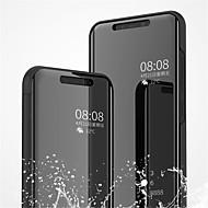 お買い得  携帯電話ケース-ケース 用途 Xiaomi Mi 8 / Mi 8 SE スタンド付き / メッキ仕上げ / ミラー フルボディーケース ソリッド ハード PUレザー のために Xiaomi Mi 8 / Xiaomi Mi 8 SE