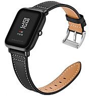 Недорогие Ремешки для часов Xiaomi-Ремешок для часов для Huami Amazfit Bip Younth Watch Xiaomi Современная застежка Натуральная кожа Повязка на запястье