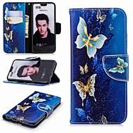 Недорогие Чехлы и кейсы для Huawei Honor-Кейс для Назначение Huawei Honor 10 / Honor 7A Кошелек / Бумажник для карт / со стендом Чехол Бабочка Твердый Кожа PU для Honor 7X / Honor 7C(Enjoy 8) / Honor 6X