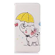 preiswerte Handyhüllen-Hülle Für Huawei P20 Pro / P20 lite Geldbeutel / Kreditkartenfächer / mit Halterung Ganzkörper-Gehäuse Elefant Hart PU-Leder für Huawei P20 / Huawei P20 Pro / Huawei P20 lite