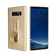 Недорогие Чехлы и кейсы для Galaxy Note 8-Кейс для Назначение SSamsung Galaxy Note 8 Кольца-держатели / Матовое Кейс на заднюю панель Однотонный Мягкий ТПУ для Note 8