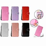 Недорогие Чехлы и кейсы для Galaxy S9 Plus-Кейс для Назначение SSamsung Galaxy S9 Plus / S9 Кошелек / Бумажник для карт / со стендом Чехол Сияние и блеск Твердый Кожа PU для S9 / S9 Plus