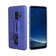 Недорогие Чехлы и кейсы для Galaxy S9 Plus-Кейс для Назначение SSamsung Galaxy S9 Plus / S9 / S7 edge Кольца-держатели / Матовое Кейс на заднюю панель Однотонный Мягкий ТПУ для S9 / S9 Plus / S8 Plus