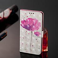Недорогие Чехлы и кейсы для Galaxy J-Кейс для Назначение SSamsung Galaxy J7 Duo Кошелек / Бумажник для карт / Флип Чехол Цветы Твердый Кожа PU для J8 / J7 Duo / J2 PRO 2018