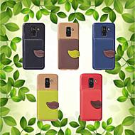 Недорогие Чехлы и кейсы для Galaxy A7(2017)-Кейс для Назначение SSamsung Galaxy A8 Plus 2018 / A8 2018 Кошелек / Бумажник для карт / со стендом Кейс на заднюю панель Однотонный Мягкий ТПУ для A5(2018) / A7 (2017) / A8 2018
