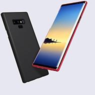 お買い得  Samsung 用 ケース/カバー-ケース 用途 Samsung Galaxy Note 9 つや消し / エンボス加工 バックカバー ソリッド ハード PC のために Note 9