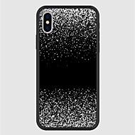 Недорогие Кейсы для iPhone 8 Plus-Кейс для Назначение Apple iPhone X / iPhone 8 Plus С узором Кейс на заднюю панель Мультипликация / Градиент цвета Твердый Акрил для iPhone X / iPhone 8 Pluss / iPhone 8