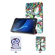 Недорогие Чехлы и кейсы для Samsung Tab-Кейс для Назначение SSamsung Galaxy Tab A 7.0 (2016) со стендом Чехол дерево Твердый Кожа PU для Tab A 7.0 (2016)