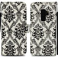 Недорогие Чехлы и кейсы для Galaxy S7-Кейс для Назначение SSamsung Galaxy S9 Plus / S9 Кошелек / Бумажник для карт / со стендом Чехол Кружева Печать Твердый Кожа PU для S9 / S9 Plus / S8 Plus