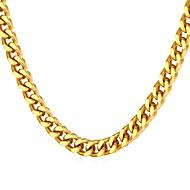 お買い得  -男性用 太い鎖 ネックレス  -  ステンレス鋼 ファッション ゴールド, シルバー 55 cm ネックレス ジュエリー 1個 用途 贈り物, 日常