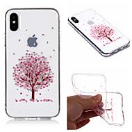 Недорогие Кейсы для iPhone 8-Кейс для Назначение Apple iPhone X / iPhone 8 Plus IMD / Прозрачный / С узором Кейс на заднюю панель дерево / Цветы Мягкий ТПУ для iPhone X / iPhone 8 Pluss / iPhone 8