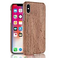 Недорогие Кейсы для iPhone 8 Plus-Кейс для Назначение Apple iPhone X / iPhone 8 С узором Кейс на заднюю панель Имитация дерева Твердый ПК для iPhone X / iPhone 8 Pluss / iPhone 8