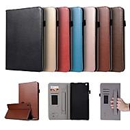 お買い得  携帯電話ケース-ケース 用途 Huawei MediaPad M3 Lite 8(CPN-W09, CPN-AL00 カードホルダー / スタンド付き / 磁石バックル フルボディーケース ソリッド ハード PUレザー のために Huawei MediaPad M3 Lite 8(CPN-W09, CPN-AL00