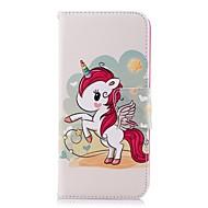Недорогие Чехлы и кейсы для Galaxy S9-Кейс для Назначение SSamsung Galaxy S9 Plus / S8 Plus Кошелек / Бумажник для карт / со стендом Чехол единорогом Твердый Кожа PU для S9 / S9 Plus / S8 Plus