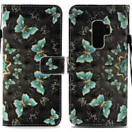 Недорогие Чехлы и кейсы для Galaxy S-Кейс для Назначение SSamsung Galaxy S9 Plus / S9 Кошелек / Бумажник для карт / со стендом Чехол Бабочка Твердый Кожа PU для S9 / S9 Plus / S8 Plus