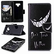Недорогие Чехлы и кейсы для Galaxy Note-Кейс для Назначение SSamsung Galaxy Note 9 / Note 8 Кошелек / Бумажник для карт / со стендом Чехол Слова / выражения Твердый Кожа PU для Note 5 / Note 4 / Note 3