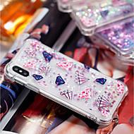 Недорогие Кейсы для iPhone 8 Plus-Кейс для Назначение Apple iPhone X / iPhone 8 Plus Защита от удара / Движущаяся жидкость / Прозрачный Кейс на заднюю панель Геометрический рисунок Мягкий ТПУ для iPhone X / iPhone 8 Pluss / iPhone 8