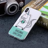 Недорогие Кейсы для iPhone 8 Plus-Кейс для Назначение Apple iPhone X / iPhone 8 Plus IMD / С узором Кейс на заднюю панель Слова / выражения / единорогом Мягкий ТПУ для iPhone X / iPhone 8 Pluss / iPhone 8