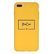 Недорогие Кейсы для iPhone 8-Кейс для Назначение Apple iPhone X / iPhone 8 Plus С узором Кейс на заднюю панель Слова / выражения Мягкий ТПУ для iPhone X / iPhone 8 Pluss / iPhone 8