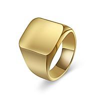 preiswerte Schmuck & Armbanduhren-Herrn Klassisch Ring - Titanstahl Beiläufig / sportlich Schmuck Gold / Silber Für Alltag Ausgehen 7 / 8 / 9 / 10 / 11