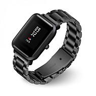 Недорогие Ремешки для часов Xiaomi-Ремешок для часов для Huami Amazfit Bip Younth Watch Xiaomi Современная застежка Металл / Нержавеющая сталь Повязка на запястье