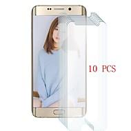 abordables Galaxy S Protectores de Pantalla-Protector de pantalla para Samsung Galaxy S6 edge Vidrio Templado 10 piezas Protector de Pantalla Frontal Dureza 9H / Anti-Arañazos