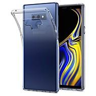 Недорогие Чехлы и кейсы для Galaxy Note-Кейс для Назначение SSamsung Galaxy Note 9 / Note 8 Ультратонкий / Прозрачный Кейс на заднюю панель Однотонный Мягкий ТПУ для Note 9 / Note 8 / Note 5