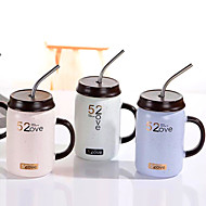 cheap -Drinkware Porcelain Straws / Mug Cute 1 pcs