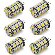 abordables Luces LED de Doble Pin-6pcs 2 W 270 lm G4 Luces LED de Doble Pin 24 Cuentas LED SMD 5050 Decorativa Blanco Cálido / Blanco Fresco 12 V