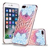 Недорогие Кейсы для iPhone 8-Кейс для Назначение Apple iPhone X / iPhone 8 Plus Прозрачный / С узором Кейс на заднюю панель Мандала Мягкий ТПУ для iPhone X / iPhone 8 Pluss / iPhone 8
