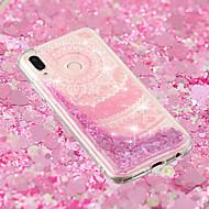 お買い得  携帯電話ケース-ケース 用途 Huawei P20 / P20 lite リキッド / クリア / パターン バックカバー レース印刷 ソフト TPU のために Huawei P20 / Huawei P20 Pro / Huawei P20 lite