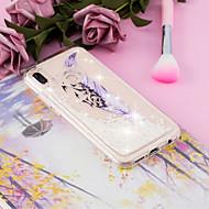 preiswerte Handyhüllen-Hülle Für Huawei P20 / P20 lite Mit Flüssigkeit befüllt / Transparent / Muster Rückseite Feder Weich TPU für Huawei P20 / Huawei P20 Pro / Huawei P20 lite