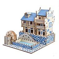 abordables -Puzzles en bois / Jeux de Logique & Casse-tête Paysage / Château Ecole / Niveau professionnel / Soulagement de stress et l'anxiété En bois 1 pcs Enfant / Adolescent Tous Cadeau