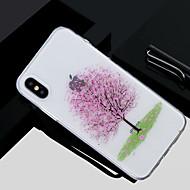 Недорогие Кейсы для iPhone 8 Plus-Кейс для Назначение Apple iPhone X / iPhone 8 Прозрачный / С узором Кейс на заднюю панель дерево Мягкий ТПУ для iPhone X / iPhone 8 Pluss / iPhone 8