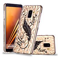 Недорогие Чехлы и кейсы для Galaxy А-Кейс для Назначение SSamsung Galaxy A8 Plus 2018 / A8 2018 С узором Кейс на заднюю панель Перья Мягкий ТПУ для A6 (2018) / A6+ (2018) / A8 2018