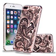 Недорогие Кейсы для iPhone 8-Кейс для Назначение Apple iPhone X / iPhone 8 Plus Прозрачный / С узором Кейс на заднюю панель Кружева Печать / Перья Мягкий ТПУ для iPhone X / iPhone 8 Pluss / iPhone 8