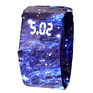 cheap Sport Watches-Men's Women's Sport Watch Digital Watch Digital 100 m Water Resistant / Water Proof Chronograph Creative Other Band Digital Colorful Minimalist Black / White / Blue - Camouflage Green Camouflage