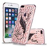 Недорогие Кейсы для iPhone 8-Кейс для Назначение Apple iPhone X / iPhone 8 Plus Прозрачный / С узором Кейс на заднюю панель Перья Мягкий ТПУ для iPhone X / iPhone 8 Pluss / iPhone 8