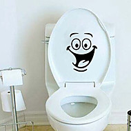 abordables Artículos para el Hogar-Etiquetas y cintas / Asiento para Retrete Dibujos animados / Creativo Moderno / Contemporáneo CLORURO DE POLIVINILO 1pc - Espejo / Limpieza Decoración de baño