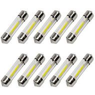 Недорогие Сигнальные огни для авто-10 шт. 36mm Автомобиль Лампы 1 W COB 80 lm 1 Светодиодная лампа Лампа поворотного сигнала / Внутреннее освещение Назначение Универсальный