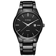 abordables Relojes Formales-Hombre Reloj de Vestir Calendario / Cronógrafo / Cool Acero Inoxidable Banda Casual / Brazalete Negro / Plata