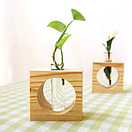 cheap -1pc Wood / Glass Modern / Contemporary / Simple Style for Home Decoration, Gifts / Home Decorations Gifts