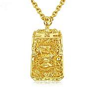 お買い得  -男性用 スタイリッシュ ペンダントネックレス  -  18Kゴールドメッキ ファッション クール ゴールド 61 cm ネックレス ジュエリー 1個 用途 贈り物, 日常