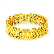 お買い得  -男性用 スタイリッシュ チェーン&リンクブレスレット  -  18Kゴールド 創造的 ファッション ブレスレット ゴールド 用途 パーティー 日常