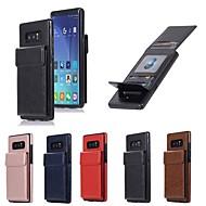 מגן עבור Samsung Galaxy Note 8 ארנק / מחזיק כרטיסים / עם מעמד כיסוי אחורי אחיד קשיח עור PU ל Note 8