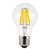 お買い得  -KWB 1個 8 W 800 lm E26 / E27 フィラメントタイプLED電球 A60(A19) 8 LEDビーズ COB 装飾用 温白色 220-240 V